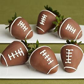 Chocolate Covered Football Strawberries